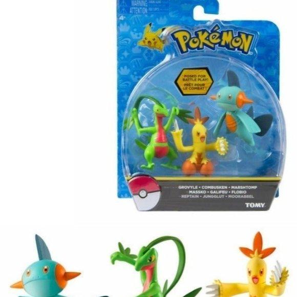 Pokémon GROVYLE COMBUSKEN MARSHTOMP NIP